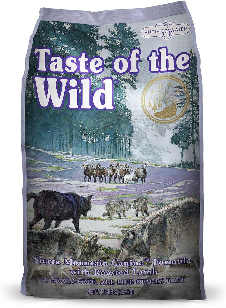 Taste of the Wild Sierra Mountain Dry Dog Food 5lbs