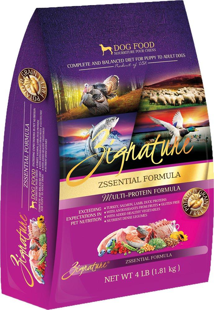 Zignature Grain-Free Zssential Multi-Protein Formula Dry Dog Food 4lbs