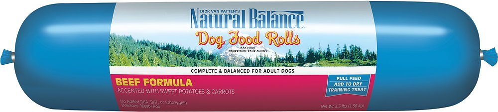 Natural Balance Beef Formula Dog Food Roll 3.5lbs