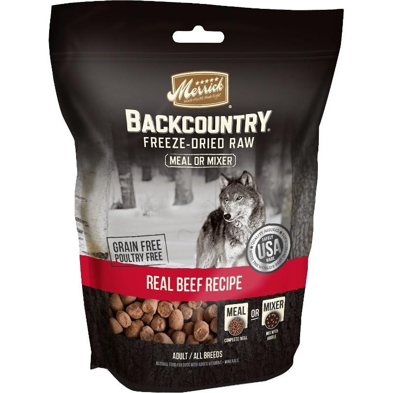Merrick Backcountry Real Beef Recipe Grain-Free Freeze-Dried Dog Food 5.5z