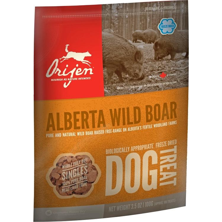 Orijen Alberta Wild Boar Singles Freeze Dried Dog Treats 3.5z