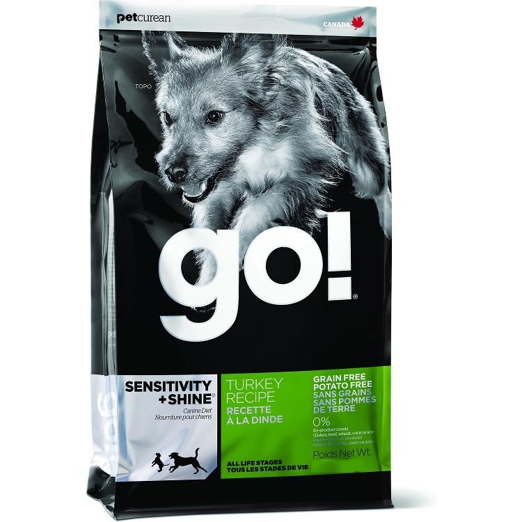 Petcurean Go! Sensitivity + Shine Grain-Free Turkey Recipe Dry Dog Food 25lbs