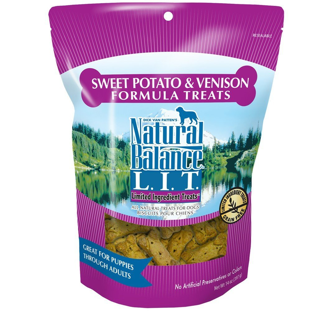 Natural Balance Limited Ingredient Treats Venison And Sweet Potato Biscuits 14z