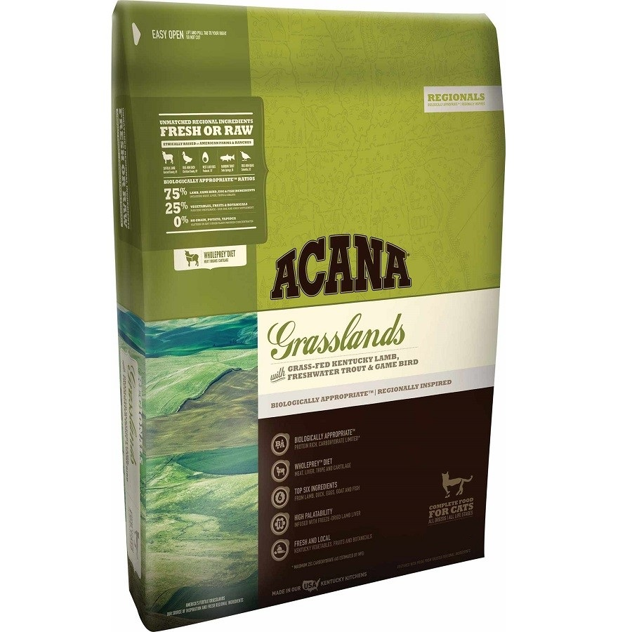 ACANA Grasslands Regional Grain-Free Dry Cat & Kitten Food 4lbs