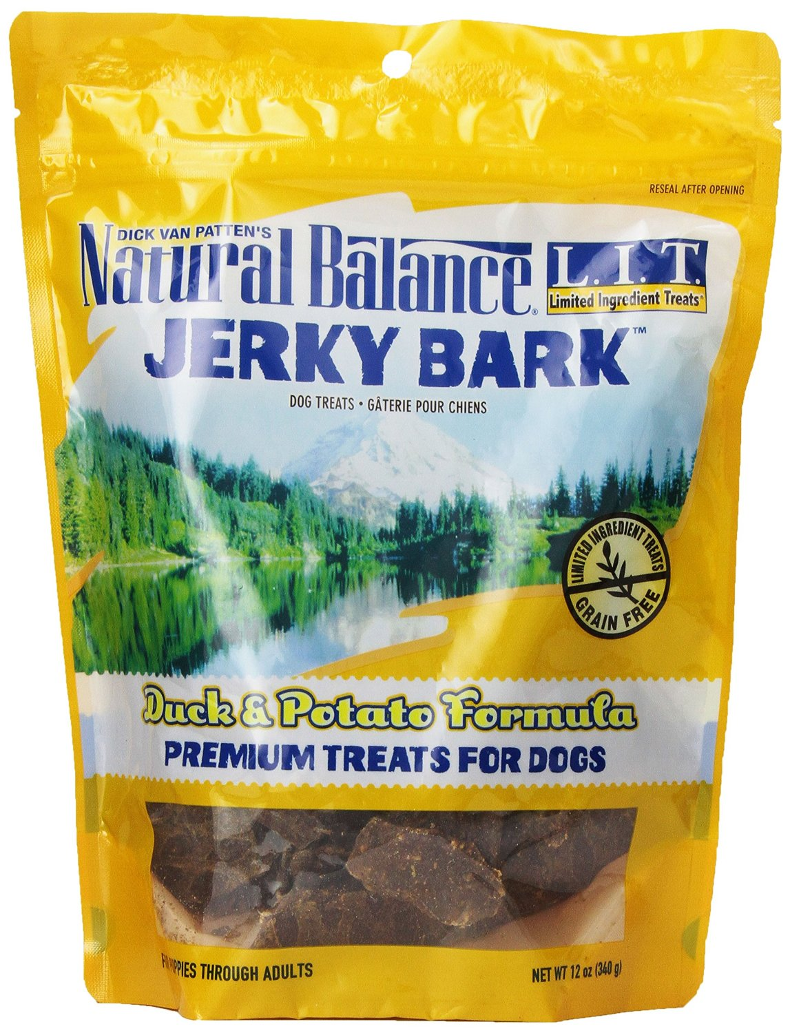 Natural Balance Limited Ingredient Treats Jerky Bars Duck & Potato 12z