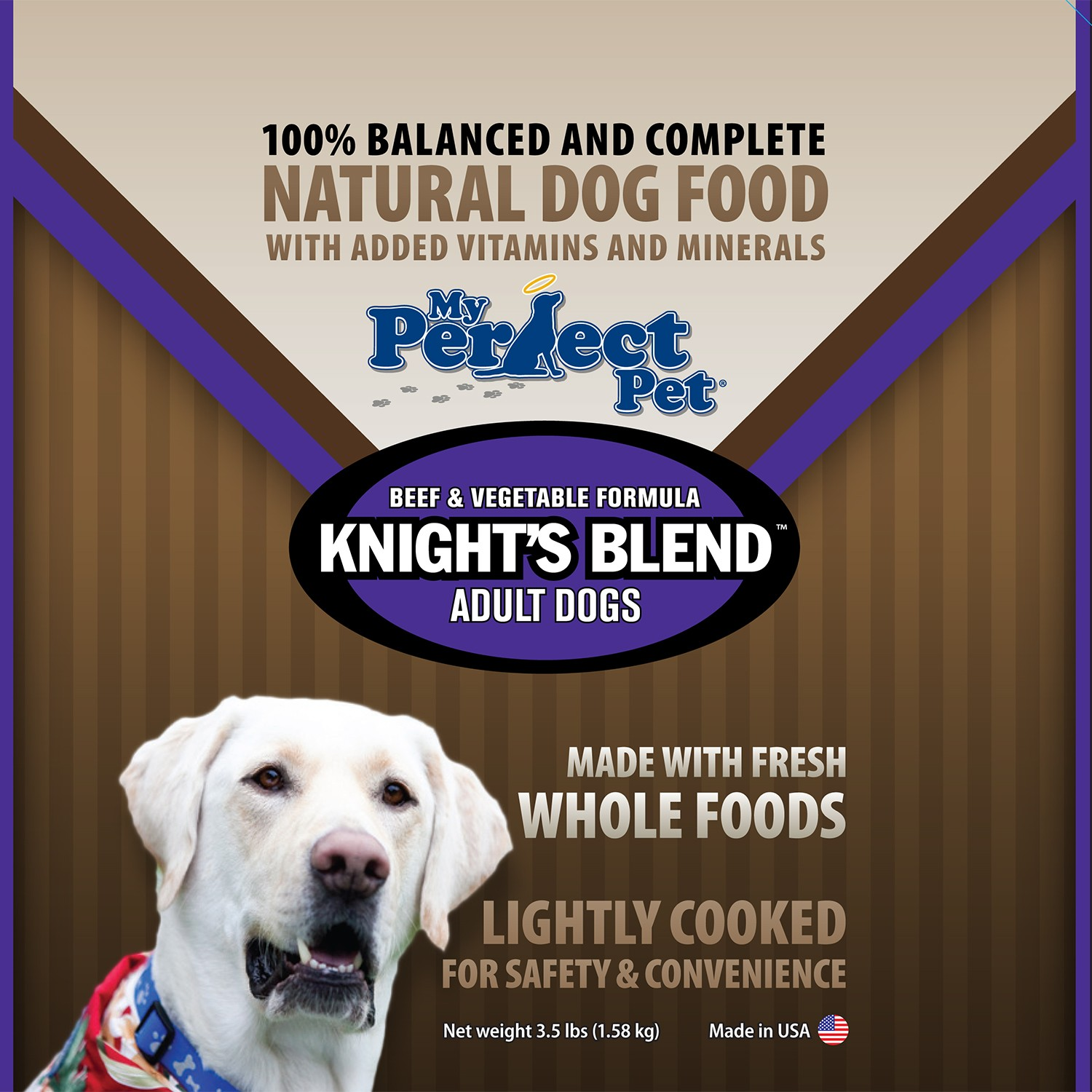 My Perfect Pet Grain-Free Knight's Blend Beef & Vegetable Frozen Dog Food 3.5lbs