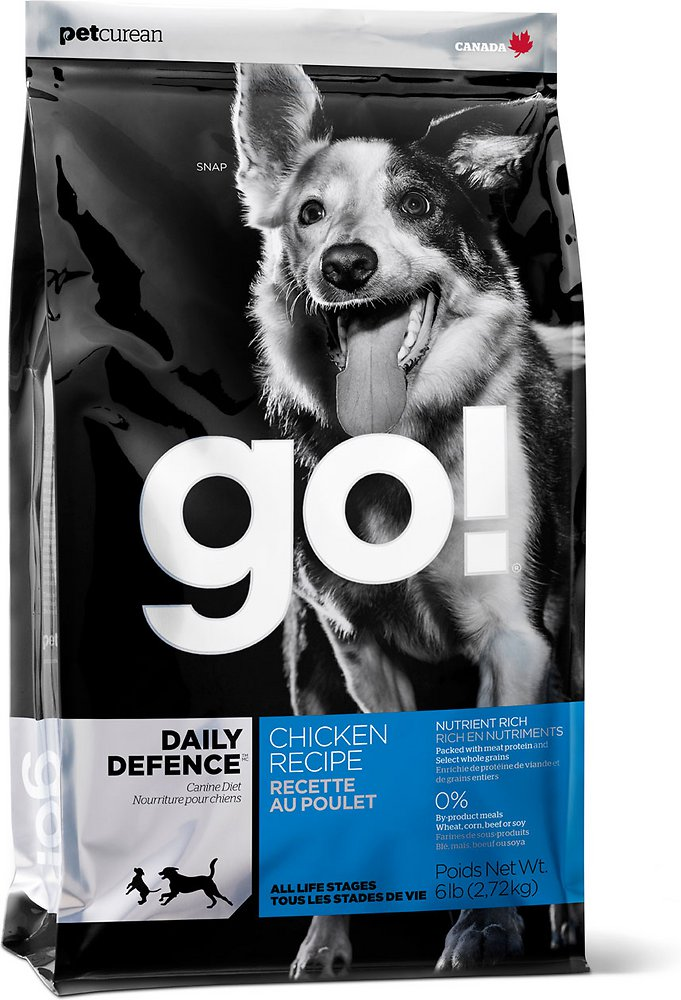 Petcurean Go! Daily Defence Chicken Recipe Dry Dog Food 25lbs