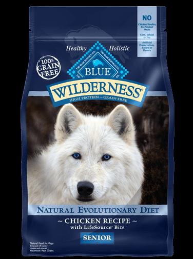 Blue Buffalo Wilderness Senior Chicken Recipe Grain-Free Dry Dog Food 11lbs