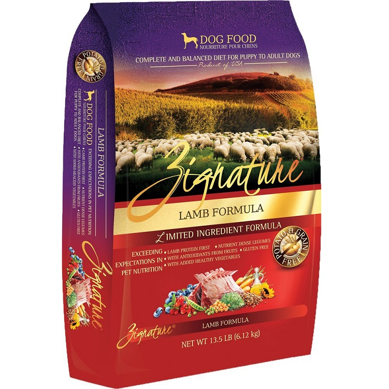 Zignature Grain-Free Lamb Limited Ingredient Formula Dry Dog Food 13.5lbs