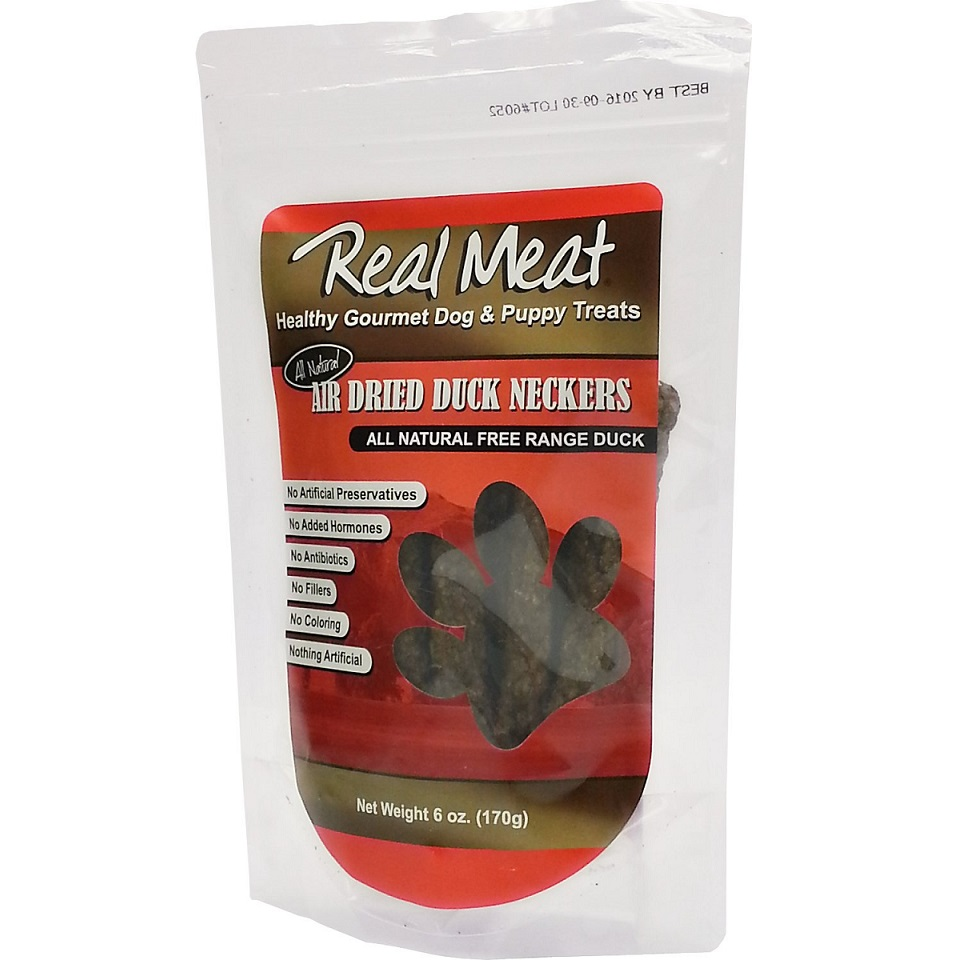 The Real Meat Company Duck Neckers Air-Dried Dog Treats 6z