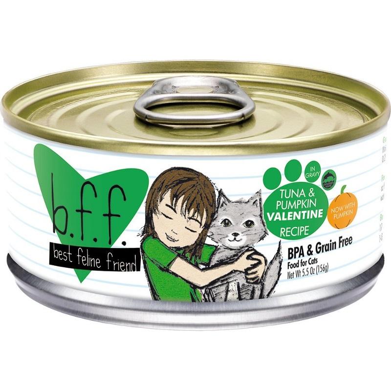 Weruva BFF Grain-Free Tuna & Pumpkin Valentine Recipe in Gravy Canned Cat Food 5.5z, 24