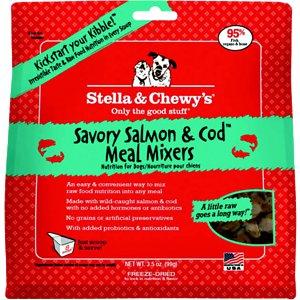 Stella & Chewy's Savory Salmon & Cod Meal Mixers Raw Freeze Dried Dog Food 3.5z