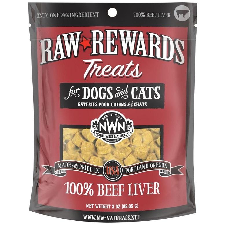 Northwest Naturals Raw Rewards Beef Liver Freeze Dried Dog & Cats Treats 3z