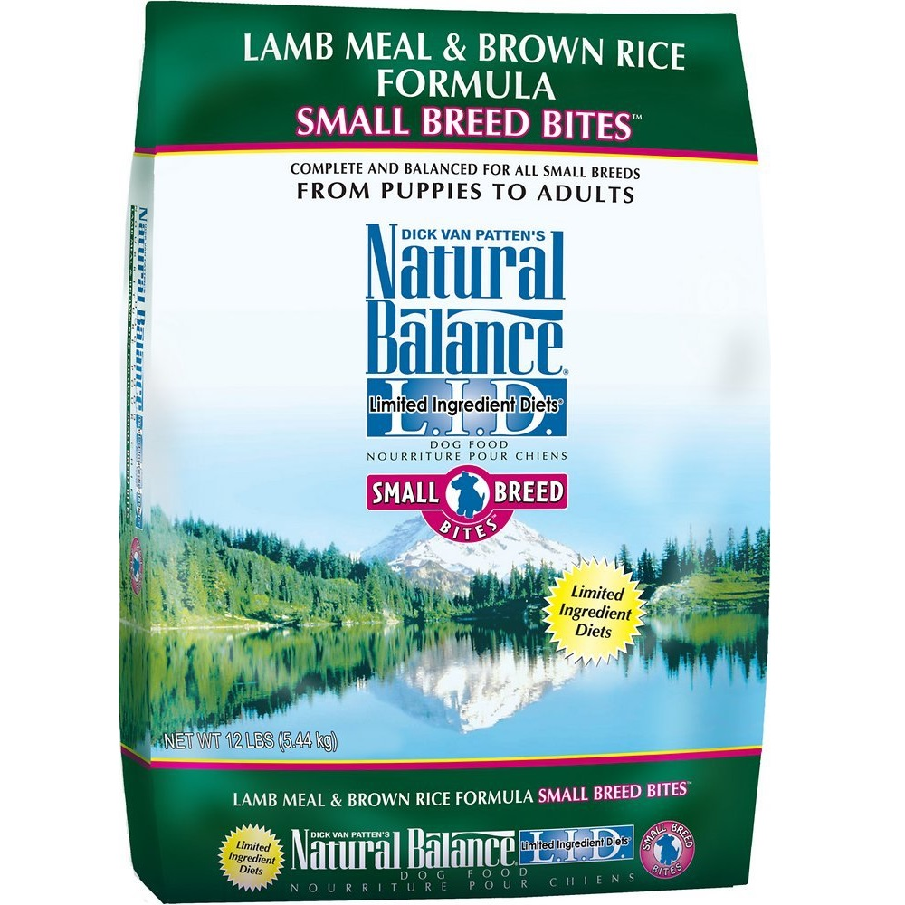 Natural Balance L.I.D. Limited Ingredient Diets Lamb Meal & Brown Rice Formula Small Breed Bites Dry Dog Food 12lbs