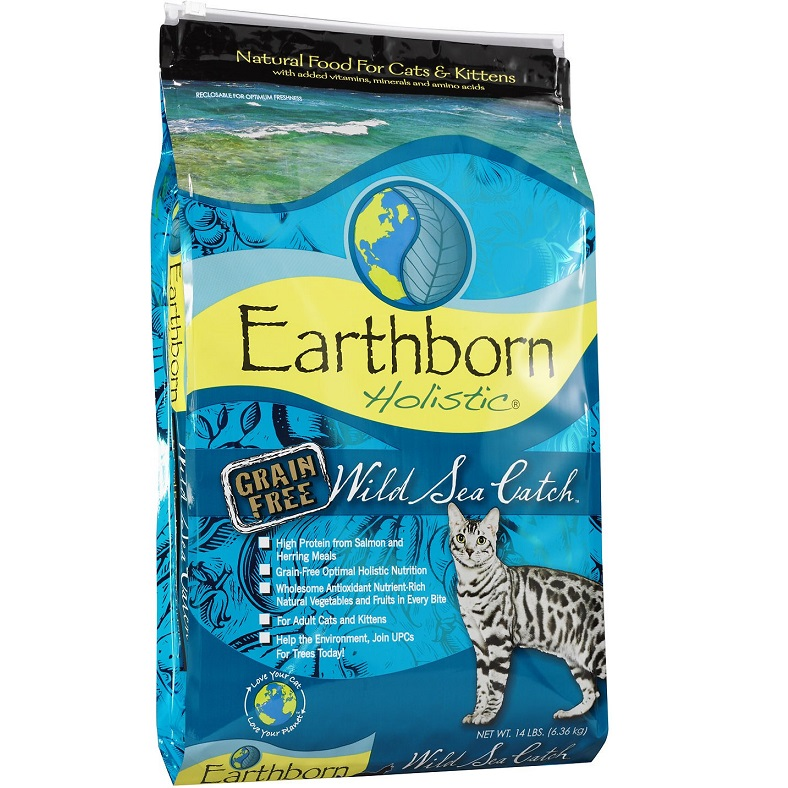Earthborn Holistic Wild Sea Catch Grain-Free Natural Dry Cat & Kitten Food 14lbs