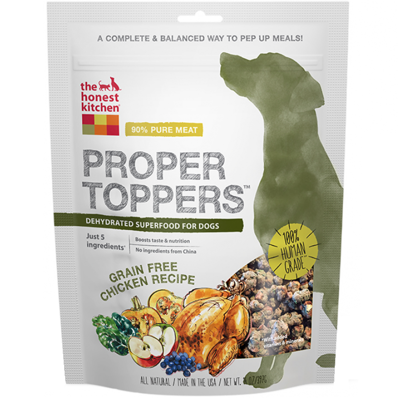 The Honest Kitchen Proper Toppers Grain Free Chicken Recipe for Dogs 14z