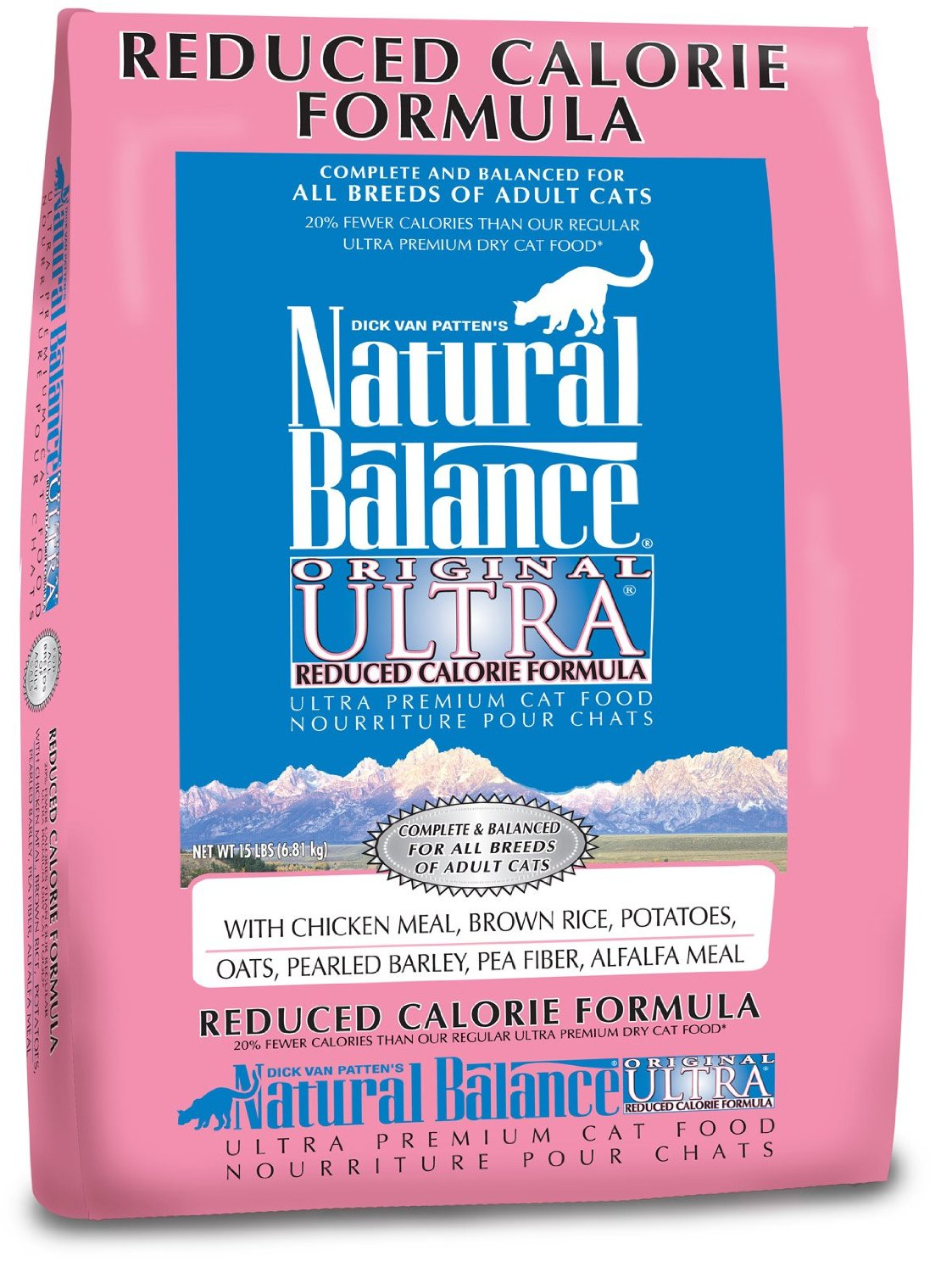 Natural Balance Original Ultra Reduced Calorie Formula Dry Cat Food 15lbs