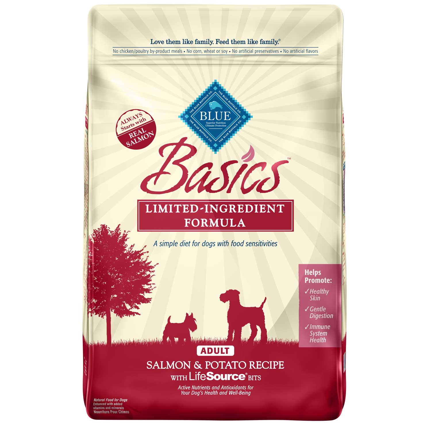 Blue Buffalo Basics Limited Ingredient Formula Salmon & Potato Recipe Adult Dry Dog Food 11lbs