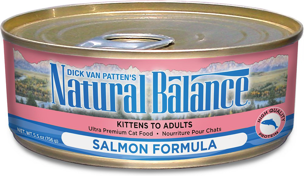 Natural Balance Ultra Premium Salmon Formula Canned Cat Food 5.5z, 24
