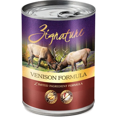 Zignature Grain-Free Venison Limited Ingredient Formula Canned Dog Food 13z, 24