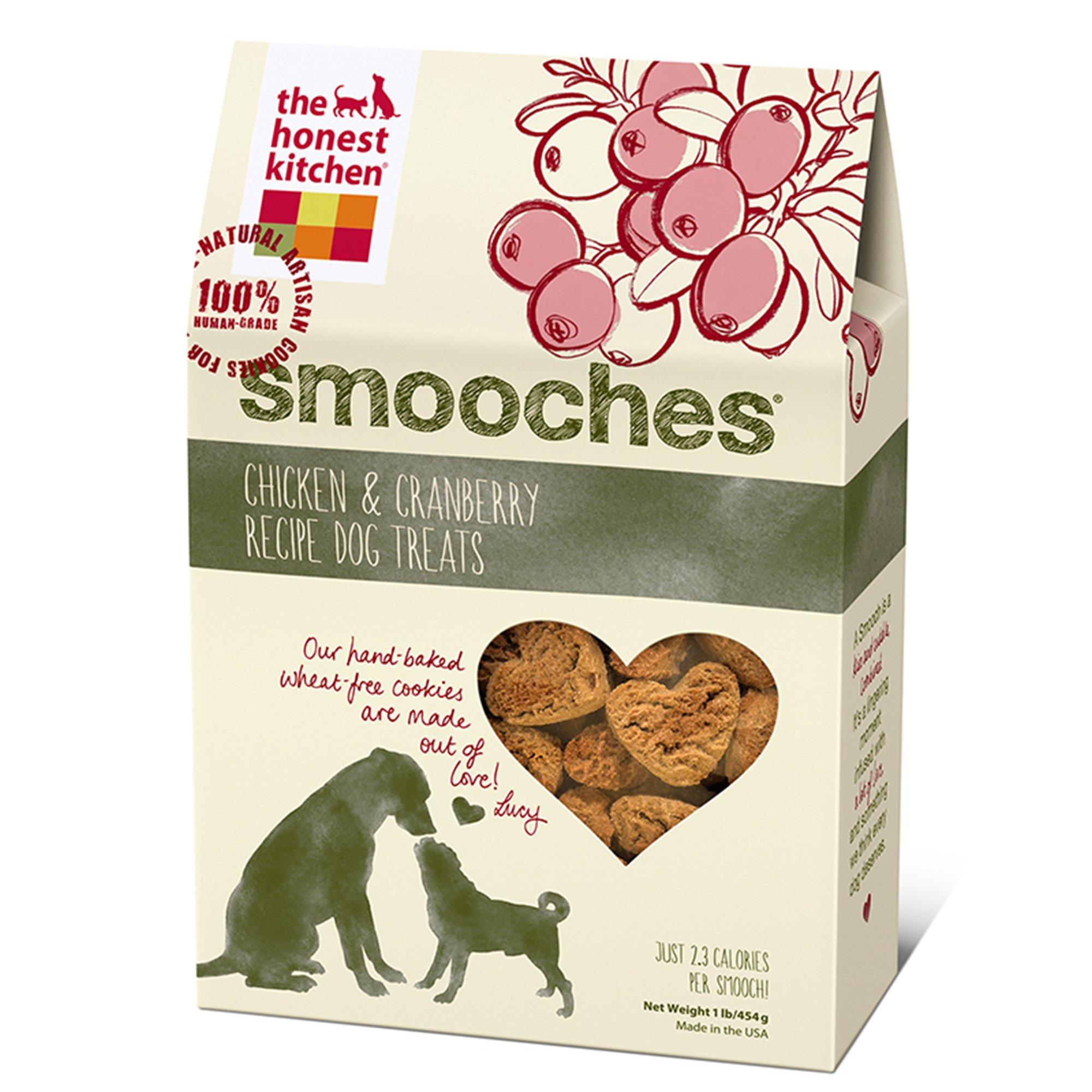 The Honest Kitchen Smooches Chicken & Cranberry Recipe Dog Treats 12z