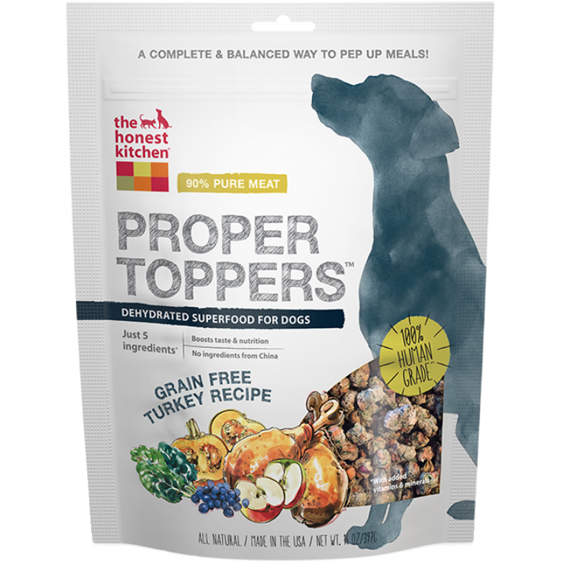 The Honest Kitchen Proper Toppers Grain Free Turkey Recipe for Dogs 14z