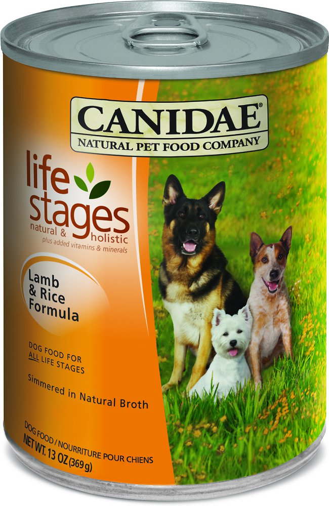 Canidae Life Stages Lamb & Rice Formula Canned Dog Food 13z, 12