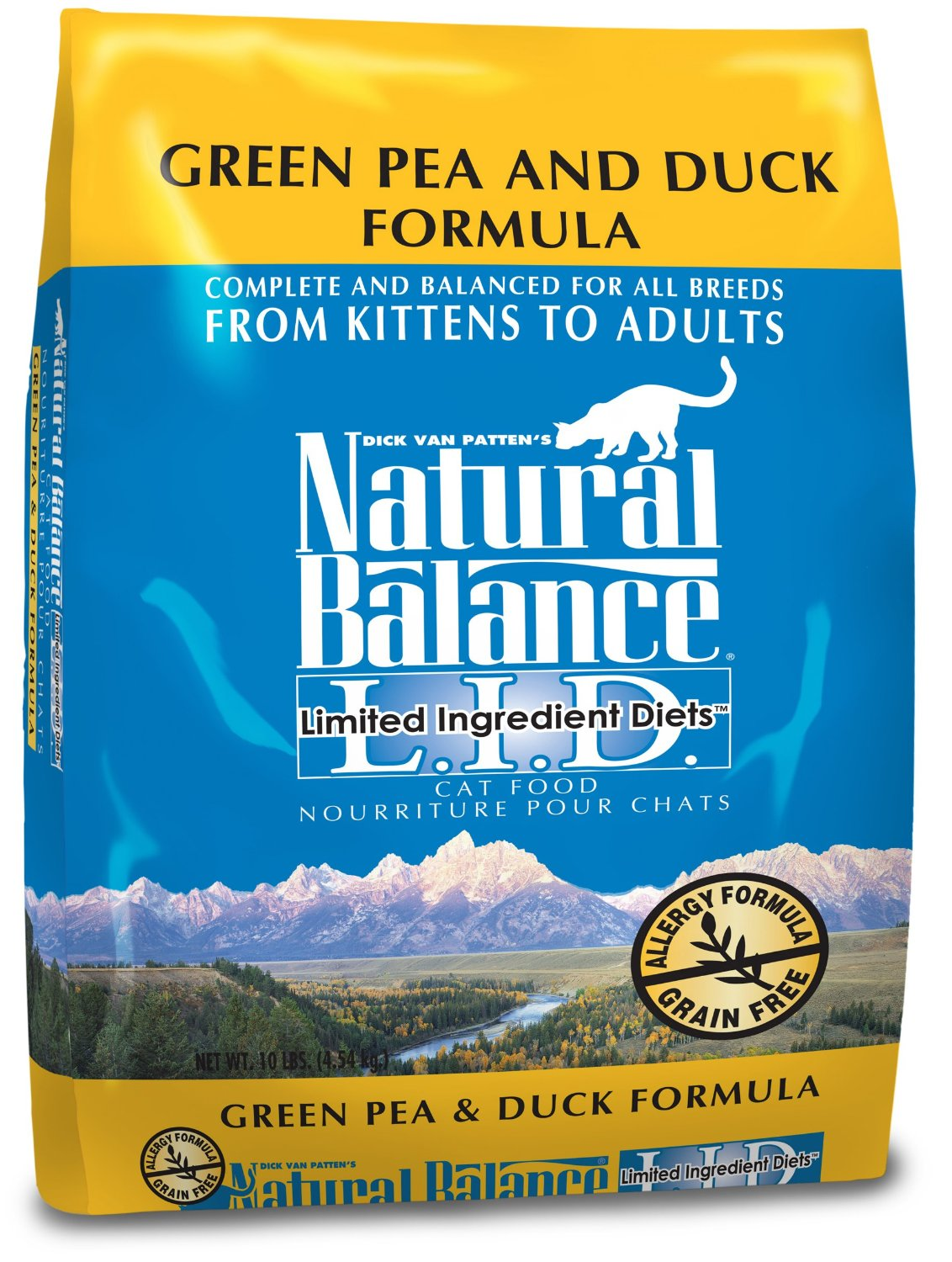 Natural Balance L.I.D. Limited Ingredient Diets Green Pea & Duck Formula Grain-Free Dry Cat Food 10lbs