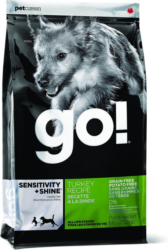 Petcurean Go! Sensitivity + Shine Grain-Free Turkey Recipe Dry Dog Food 6lbs