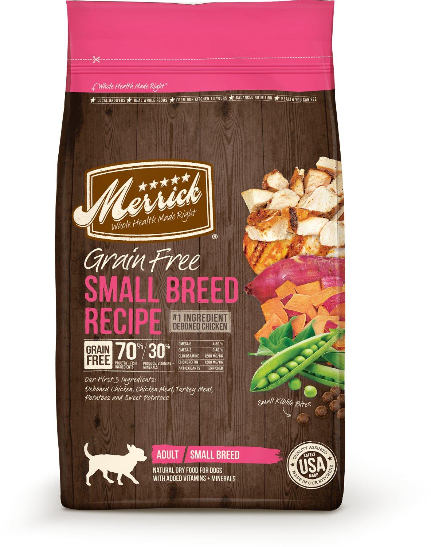 Merrick Grain-Free Small Breed Recipe Adult Dry Dog Food 4lbs