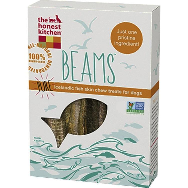 The Honest Kitchen Beams Pure Iceland Catfish Skin Sticks Dehydrated Dog Treats 4z