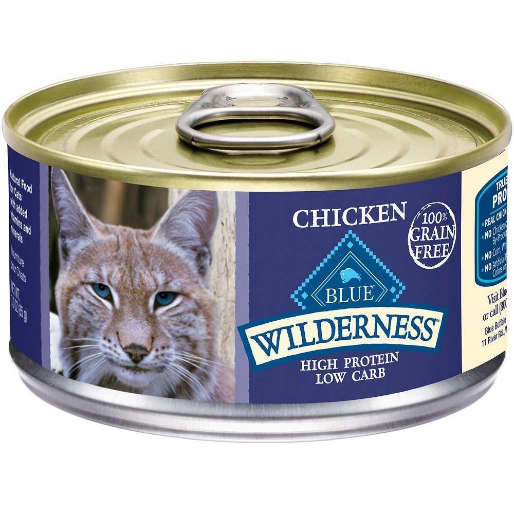 Blue Buffalo Wilderness Chicken Grain-Free Canned Cat Food 3z, 24
