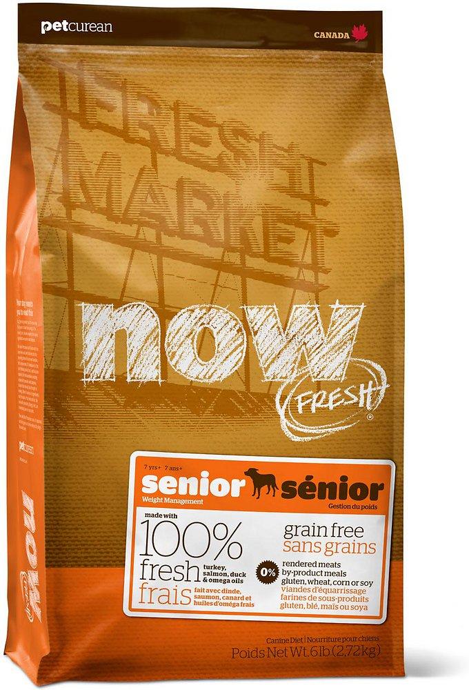 Petcurean Now Fresh Grain-Free Senior Weight Management Recipe Dry Dog Food 25lbs