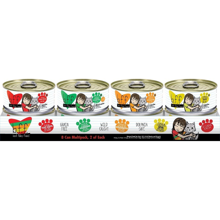 Weruva BFF Grain-Free 5.5z Canned Cat Food 8 Can Variety Pack