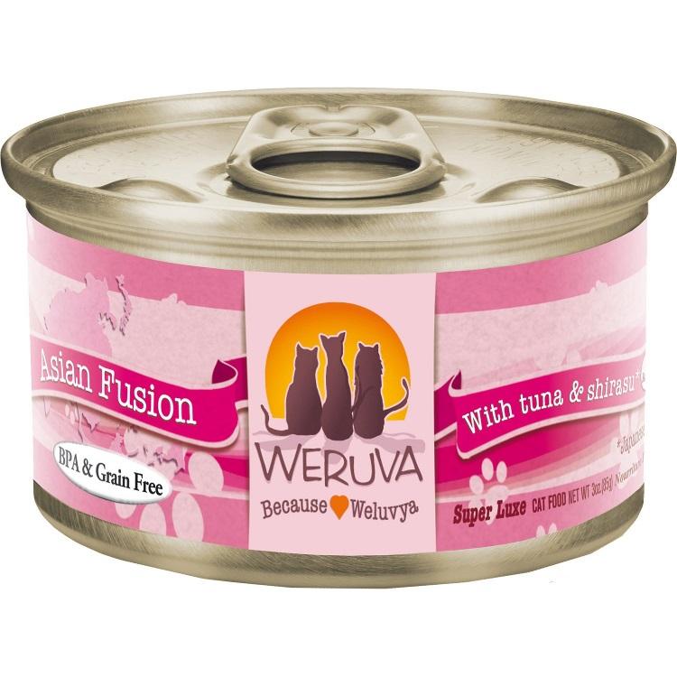 Weruva Asian Fusion with Tuna & Shirasu Canned Cat Food 3z, 24