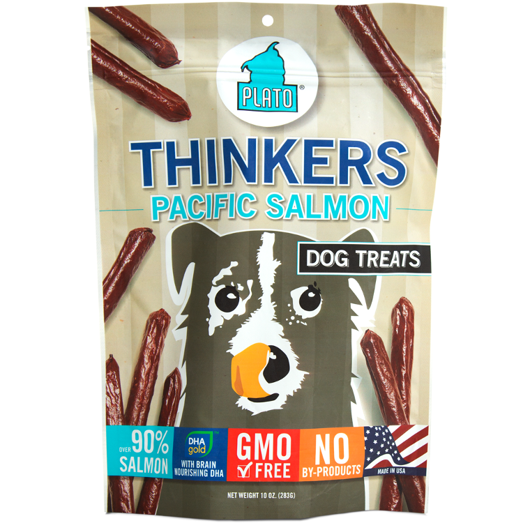 Plato Thinkers Sticks Pacific Salmon Dog Treats 10z