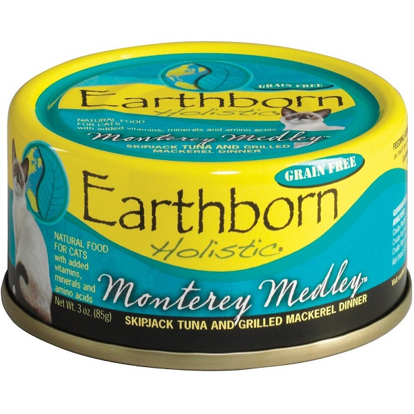 Earthborn Holistic Monterey Medley Grain-Free Natural Canned Cat & Kitten Food 3z, 24