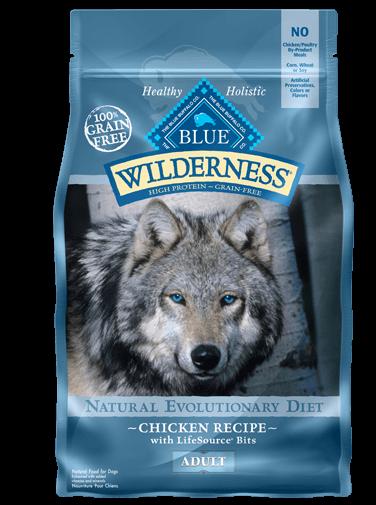 Blue Buffalo Wilderness Chicken Recipe Grain-Free Dry Dog Food 11lbs