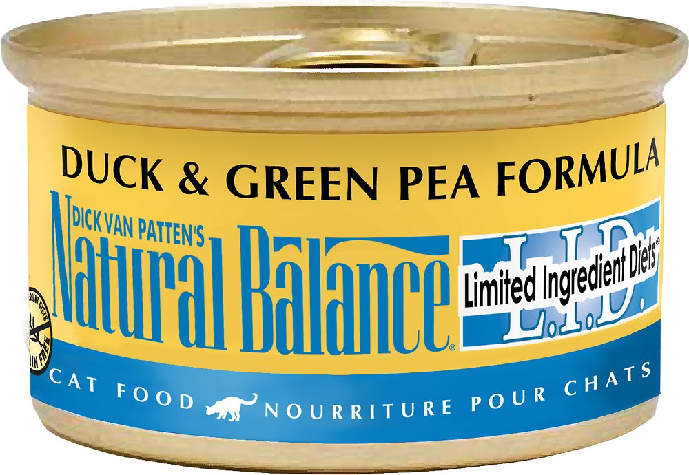 Natural Balance Grain-Free L.I.D. Limited Ingredient Diets Duck & Green Pea Formula Canned Cat Food 3z, 24