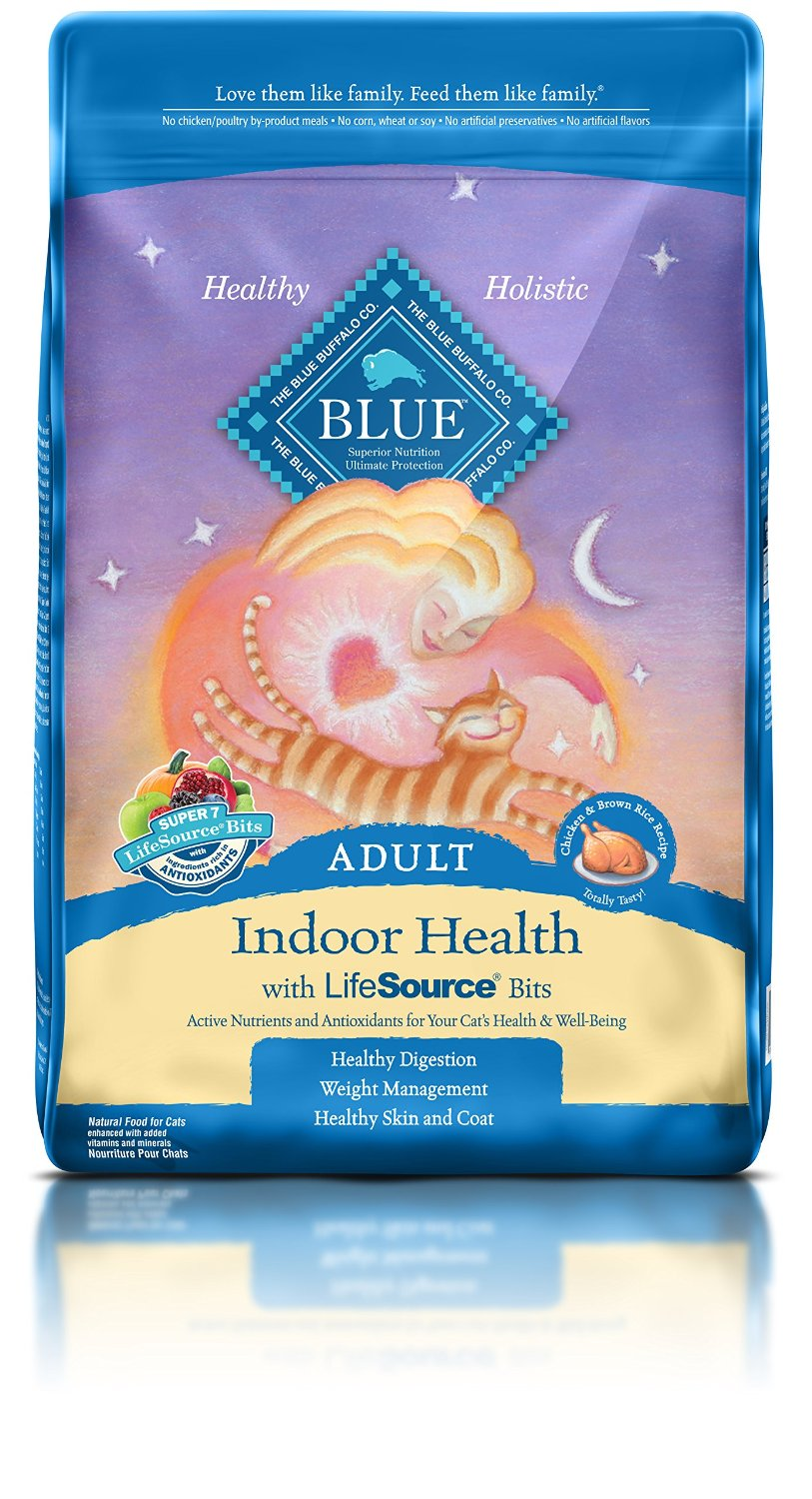 Blue Buffalo Indoor Health Chicken & Brown Rice Recipe Adult Dry Cat Food 15lbs