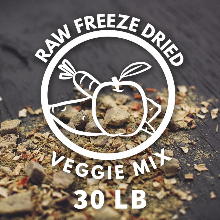 Naked Grain-Free Raw Veggie Mix Freeze Dried Dog Food 30lbs