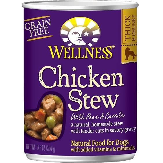 Wellness Grain-Free Chicken Stew with Peas & Carrots Canned Dog Food 12.5z, 12