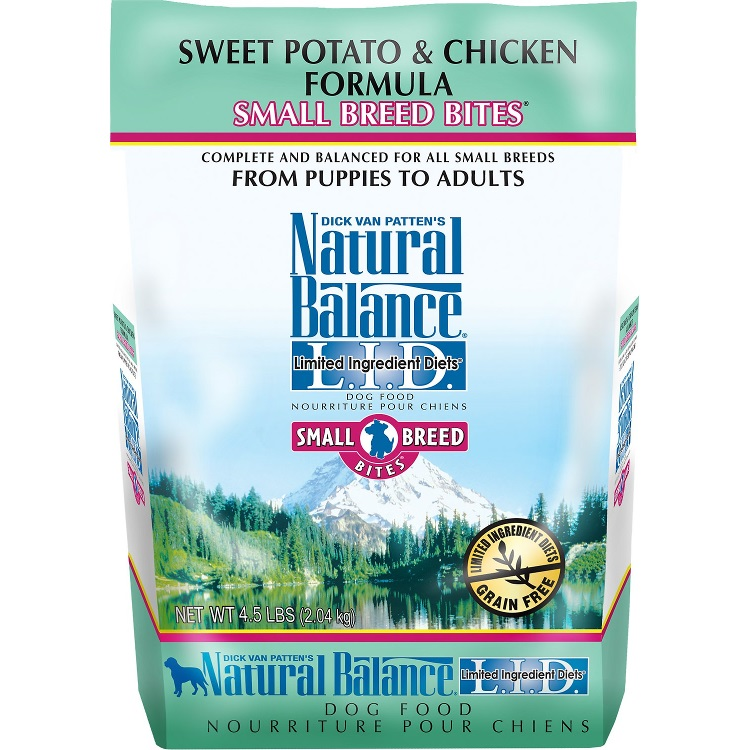 Natural Balance L.I.D. Limited Ingredient Diets Sweet Potato & Chicken Formula Small Breed Bites Dry Dog Food 4.5lbs