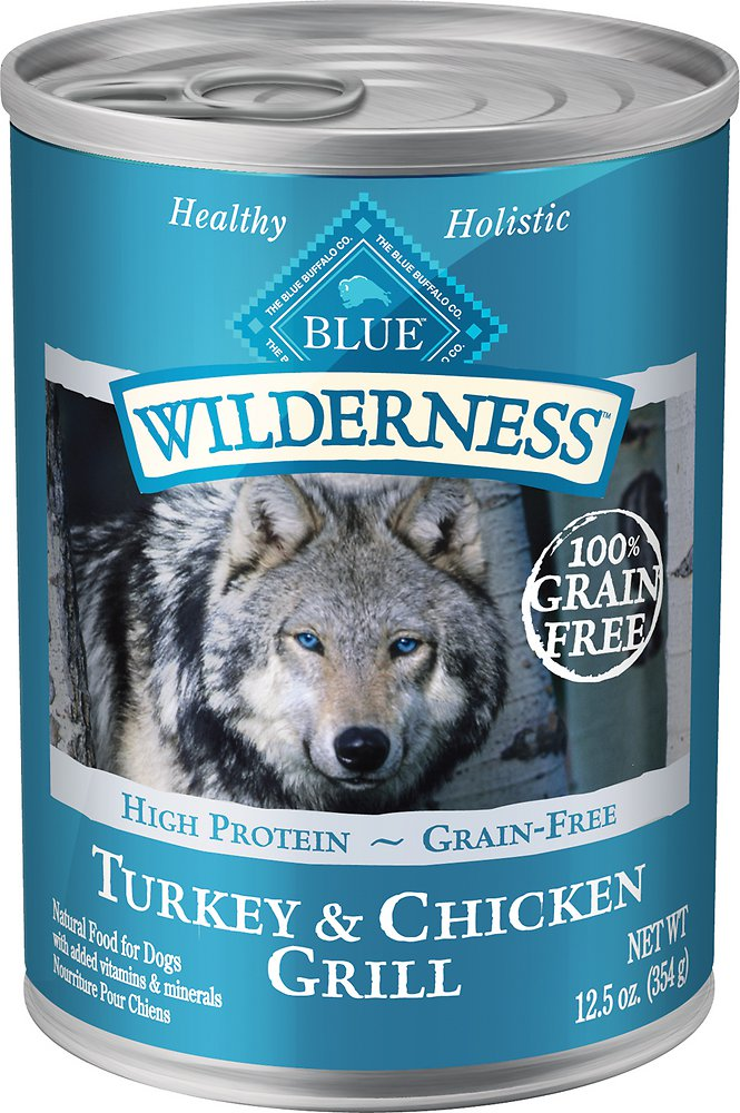 Blue Buffalo Wilderness Turkey & Chicken Grill Grain-Free Canned Dog Food 12.5, 12