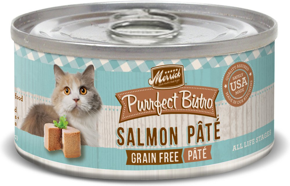 Merrick Purrfect Bistro Grain-Free Salmon Pate Canned Cat Food 3z, 24