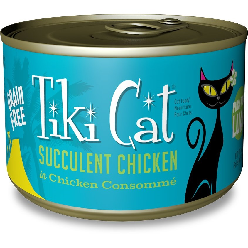 Tiki Cat Grain-Free Puka Puka Luau Succulent Chicken in Chicken Consomme Canned Cat Food 6z, 8
