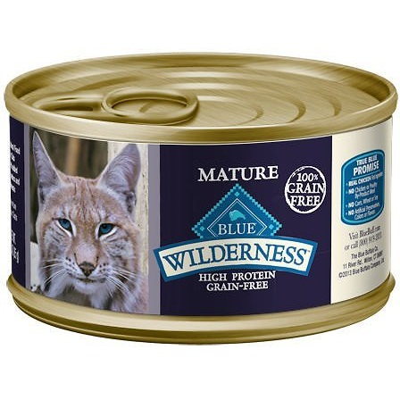 Blue Buffalo Wilderness Mature Chicken Recipe Grain-Free Canned Cat Food 5.5z, 24