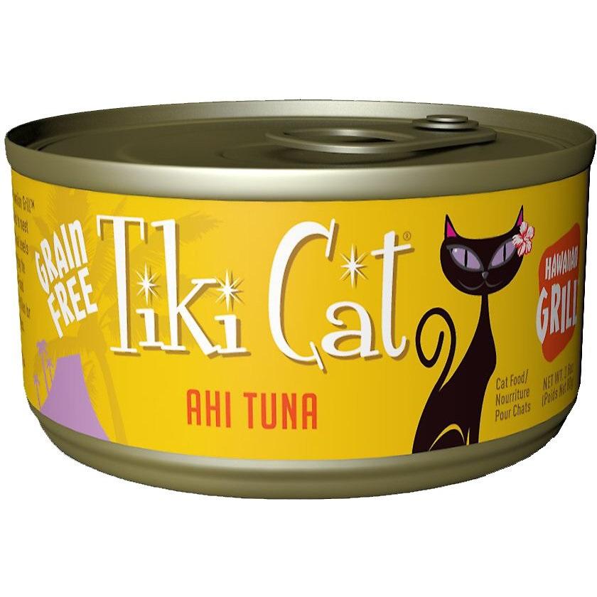 Tiki Cat Grain-Free Hawaiian Grill Ahi Tuna Canned Cat Food 2.8z, 12