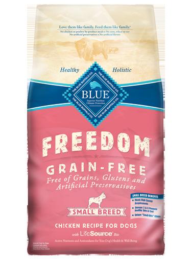 Blue Buffalo Freedom Small Breed Adult Chicken Recipe Grain-Free Dry Dog Food 11lbs