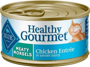 Blue Buffalo Healthy Gourmet Meaty Morsels Chicken Entree Canned Cat Food 3z, 24